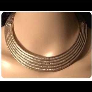 Vintage Gold Choker Style Necklace